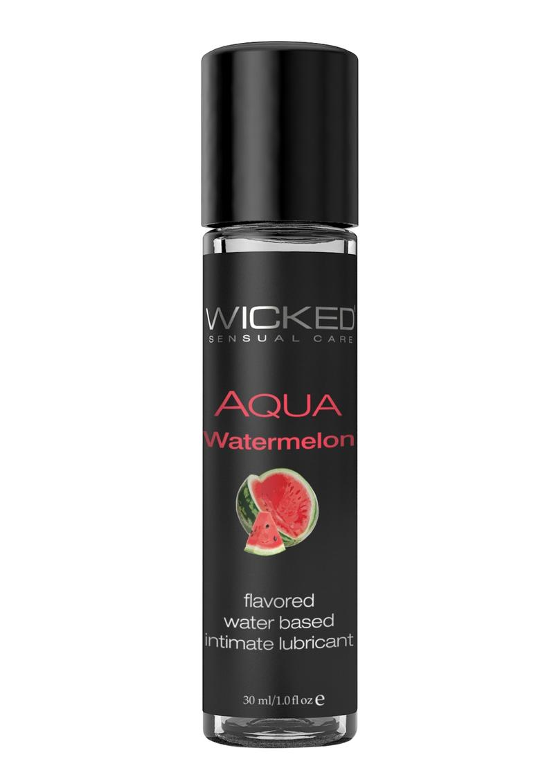 Wicked Aqua Water Based Flavored Lubricant Watermelon 1oz
