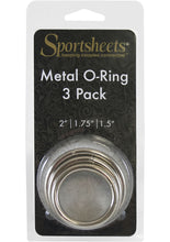Load image into Gallery viewer, Sportsheets Metal O Ring Cock Ring (3 Pack) - Silver
