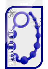 Load image into Gallery viewer, Luxe Silicone 10 Anal Beads - Indigo