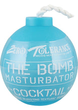 Load image into Gallery viewer, Zero Tolerance The Bomb Masturbator Cocktail Textured Stroker Sleeve - Blue