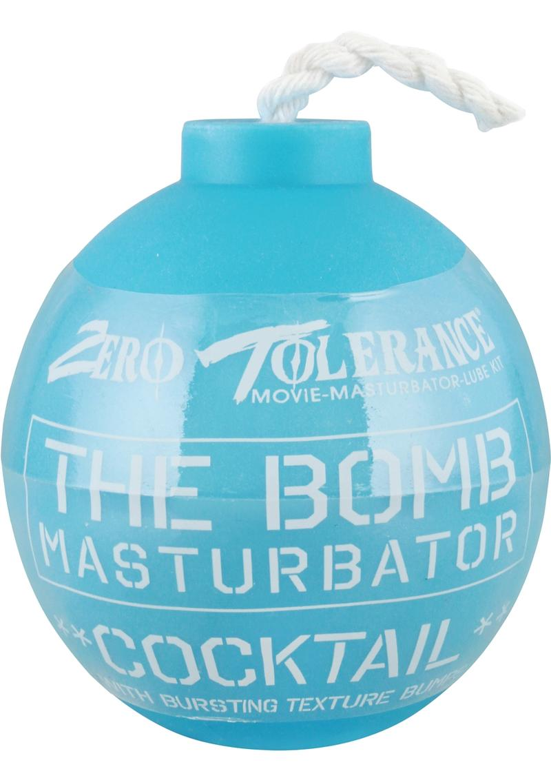Zero Tolerance The Bomb Masturbator Cocktail Textured Stroker Sleeve - Blue
