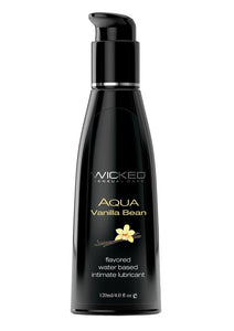 Wicked Aqua Water Based Flavored Lubricant Vanilla Bean 4 oz