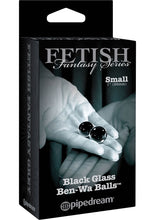 Load image into Gallery viewer, Fetish Fantasy Series Limited Edition Glass Ben-Wa Balls Black Small 1 Inch Diameter