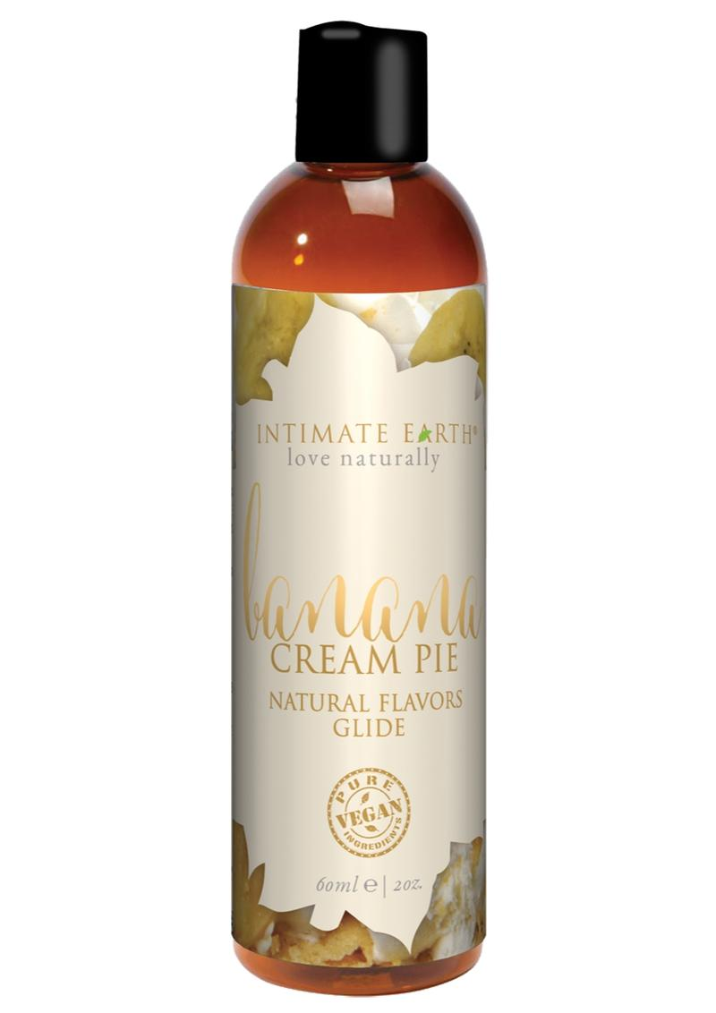 Intimate Earth Natural Flavors Glide Lubricant Banana Creampie 2oz