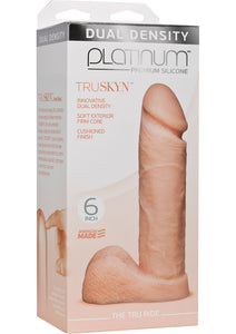 Platinum Premium Silicone The Tru Ride Dildo 6in - Vanilla