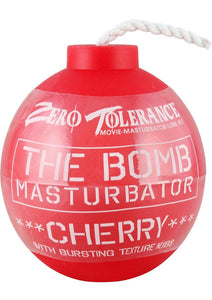 Zero Tolerance The Bomb Masturbator Cherry Textured Stroker Sleeve - Red