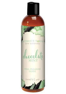 Intimate Earth Natural Flavors Glide Lubricant Chocolate Mint 4oz