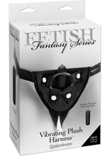 Load image into Gallery viewer, Fetish Fantasy Series Vibrating Plush Adjustable Harness - Black