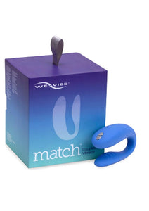 We-Vibe Match Rechargeable Silicone Couples Vibrator with Remote Control - Purple