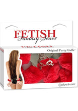 Load image into Gallery viewer, Fetish Fantasy Series Furry Cuffs Red