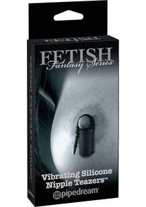 Fetish Fantasy Series Limited Edition Vibrating Silicone Nipple Teazers Black