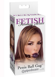 Fetish Fantasy Series Penis Ball Gag - Black and Purple