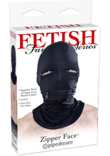Load image into Gallery viewer, Fetish Fantasy Series Zipper Face Spandex Hood Black One Size