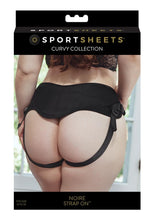 Load image into Gallery viewer, Sportsheets Curvy Colletion Noire Adjustable Strap-On - Plus Size - Black