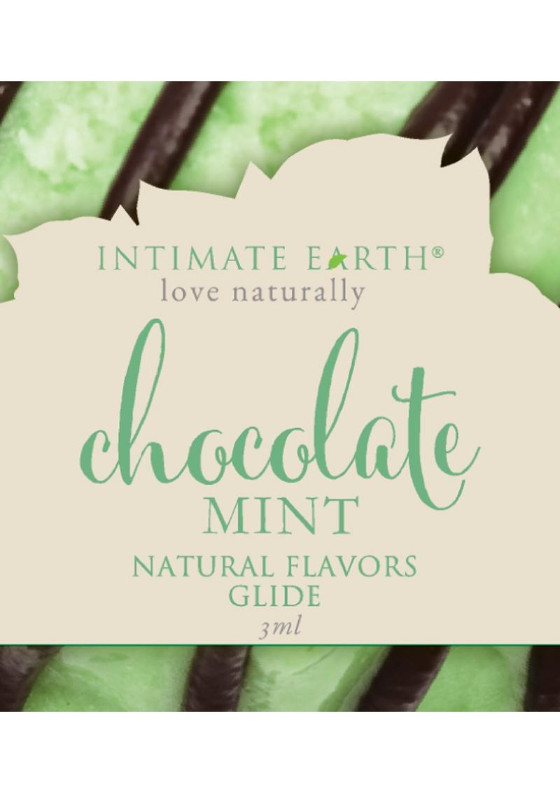 Intimate Earth Natural Flavors Glide Lubricant Chocolate Mint 3ml