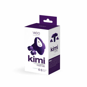 VeDO Kimi Rechargeable Dual Finger Vibe With Remote Control - Deep Purple