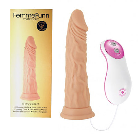 FemmeFunn Turbo Shaft 8 Function, Rotating, USB Rechargeable, Silicone, Waterproof