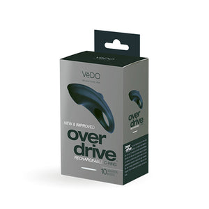 VeDO Overdrive+ Rechargeable Vibrating Ring - Just Black