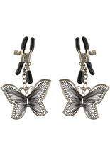 Load image into Gallery viewer, Fetish Fantasy Series Butterfly Nipple Clamps - Silver