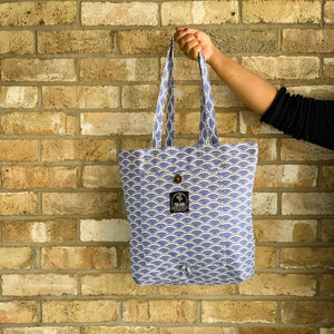 Ikigai Magic Tote Bag in Blue