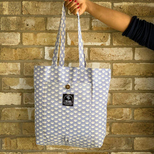 Wabi Sabi Magic Tote Bag in Blue