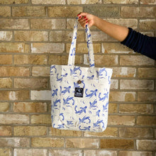 Load image into Gallery viewer, Sakana Magic Tote Bag in Blue - Tikauo