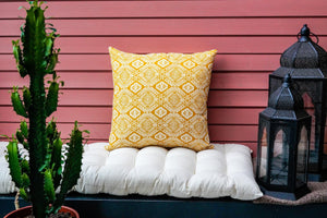 Omar Cushion Cover in Yellow