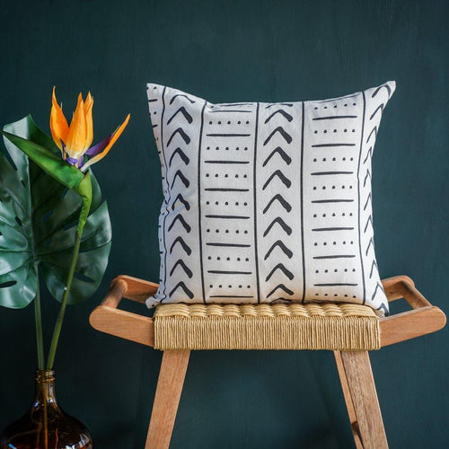 Uma Square Cushion Cover in Charcoal
