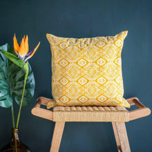 Load image into Gallery viewer, Omar Cushion Cover in Yellow