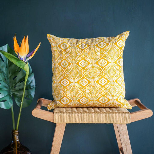 Omar Cushion Cover in Yellow - Tikauo