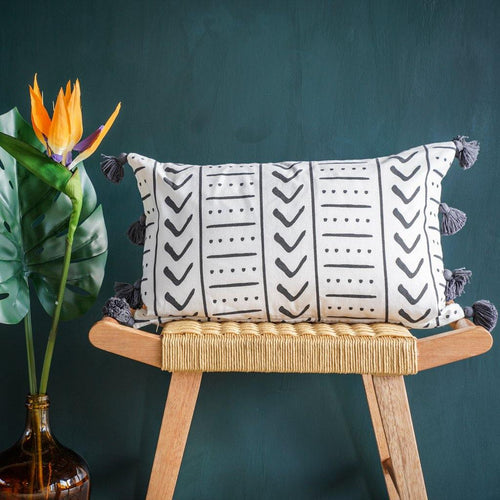 Uma Rectangle Cushion Cover in Charcoal