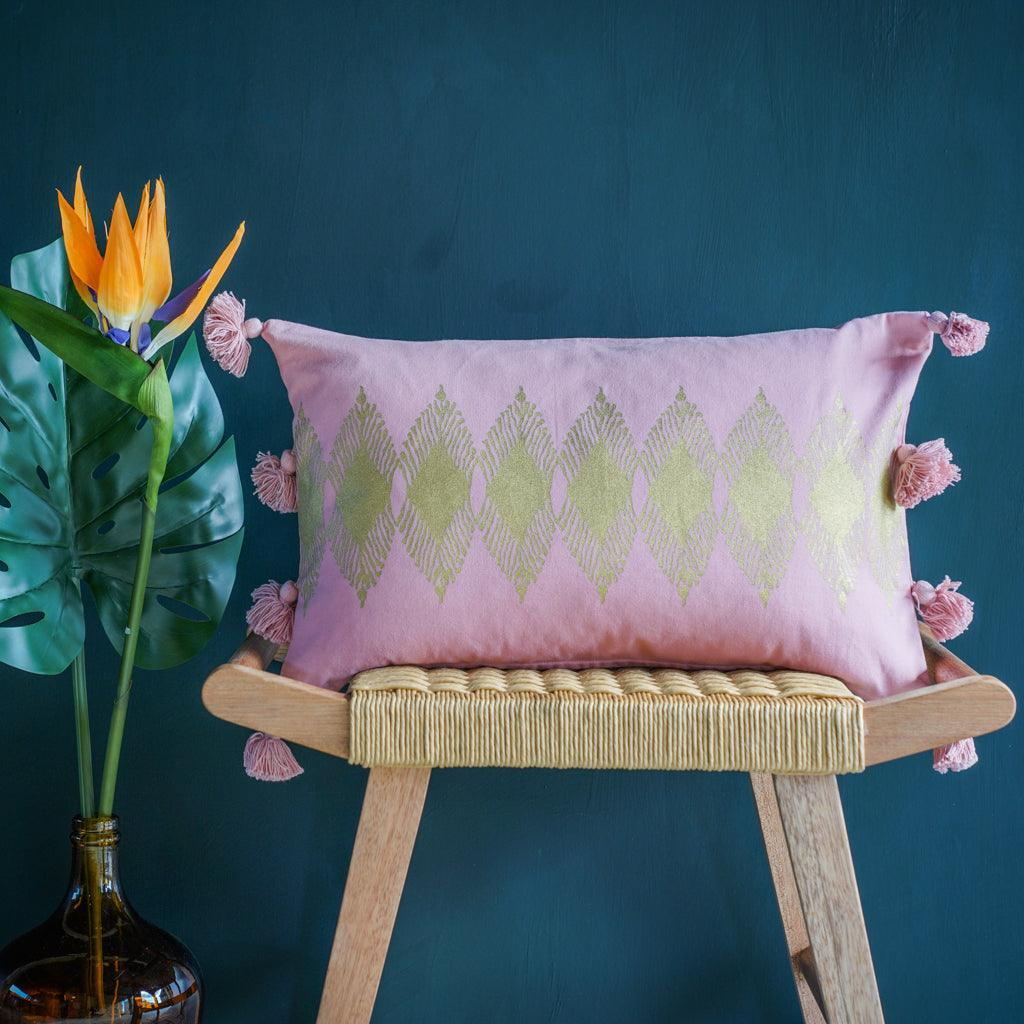 Adah Cushion Cover in Pink