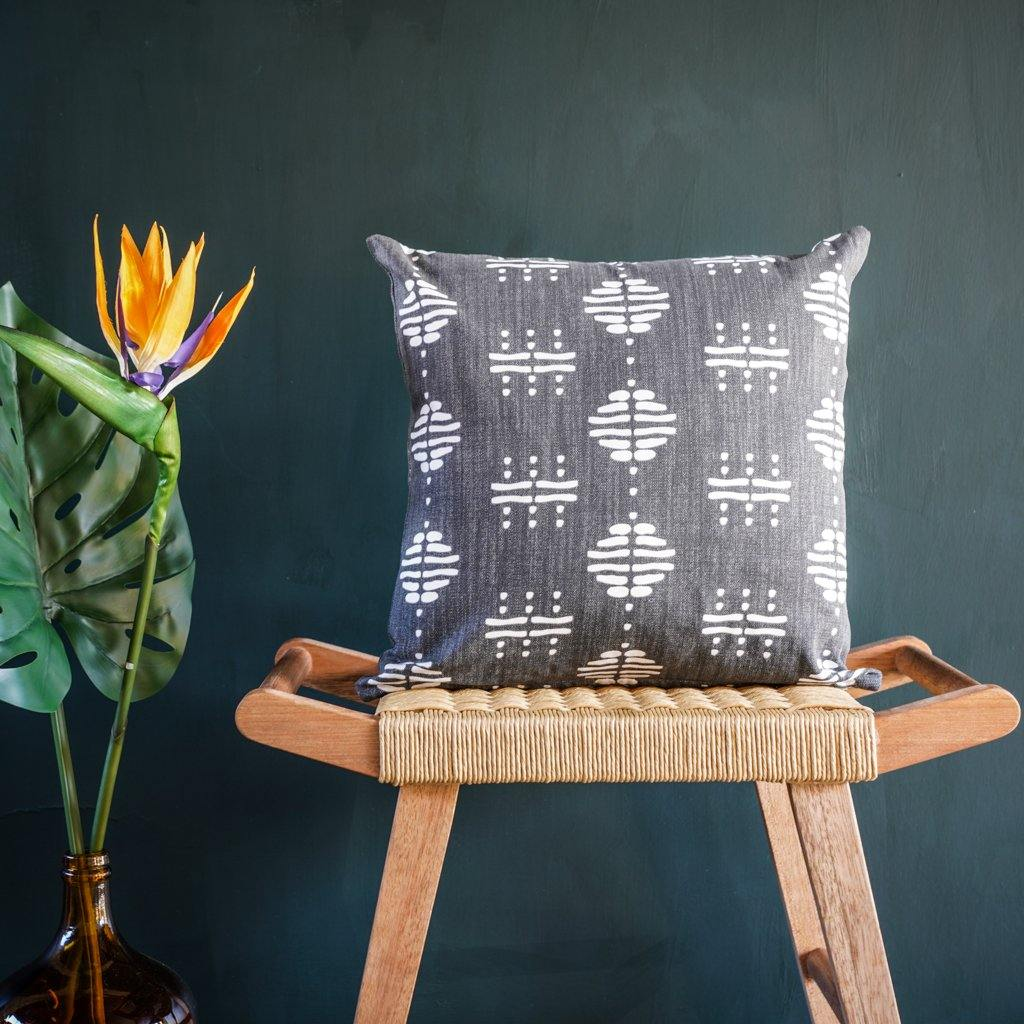 Nala Cushion Cover in Charcoal