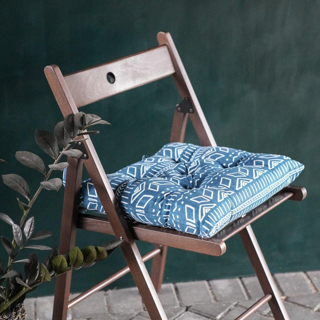Iman Seat Pad in Blue