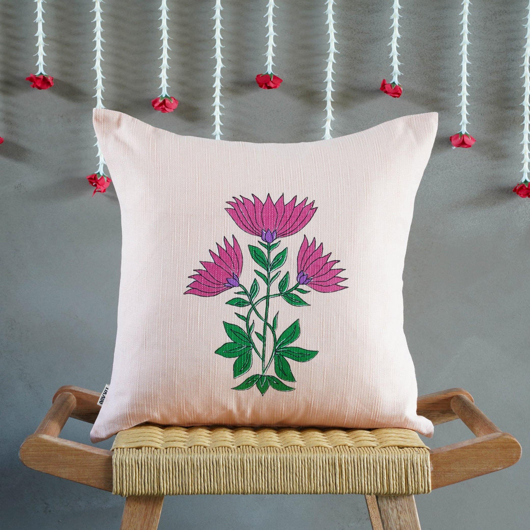 Juhi Floral Pink Cushion Cover