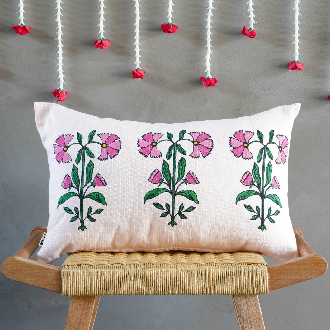 Nasrin Floral Pink Cushion Cover