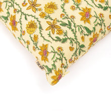 Load image into Gallery viewer, Bahar Floral Yellow Cushion Cover - Tikauo