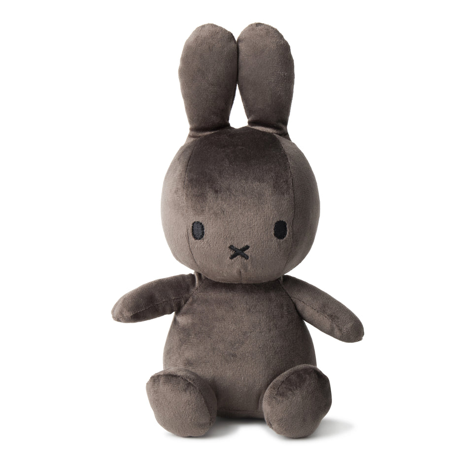MIFFY VELVETINE DARK GREY NIJNTJE DICK BRUNA SOFT PLUSH CUDDLY TOY