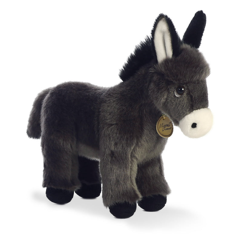 "NEW AURORA MIYONI DONKEY FOAL 11"" PLUSH 26285 CUDDLY SOFT TOY TEDDY"