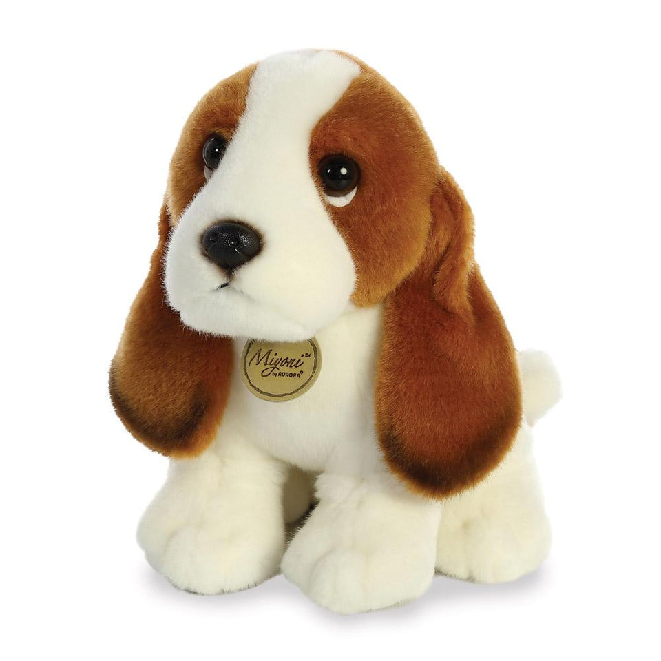 AURORA MIYONI PLUSH BASSET HOUND DOG 26371 CUDDLY QUALITY SOFT TOY