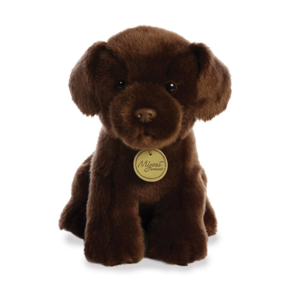 AURORA MIYONI PLUSH CHOCOLATE LABRADOR DOG CUDDLY SOFT TOY