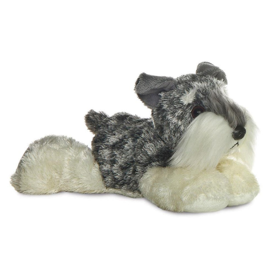 "NEW AURORA 8"" MINI FLOPSIE STEIN SCHNAUZER DOG 12752 SOFT PLUSH TOY"