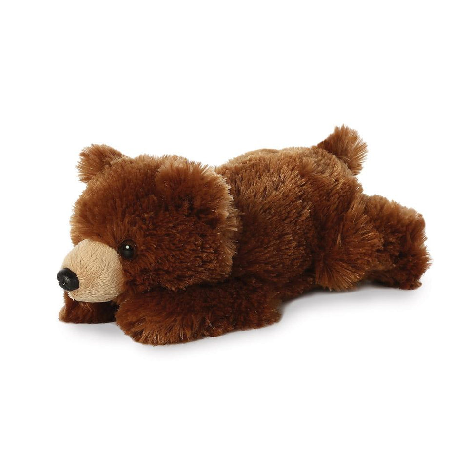 "AURORA 8"" MINI FLOPSIE GRIZZLY BEAR CUDDLY SOFT PLUSH TOY WILDLIFE"