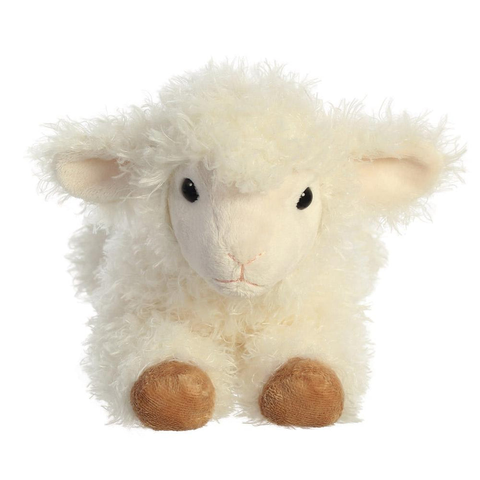 "AURORA PLUSH FLOPSIE LUNA LAMB 12"" CUDDLY SOFT STUFFED TOY SHEEP"