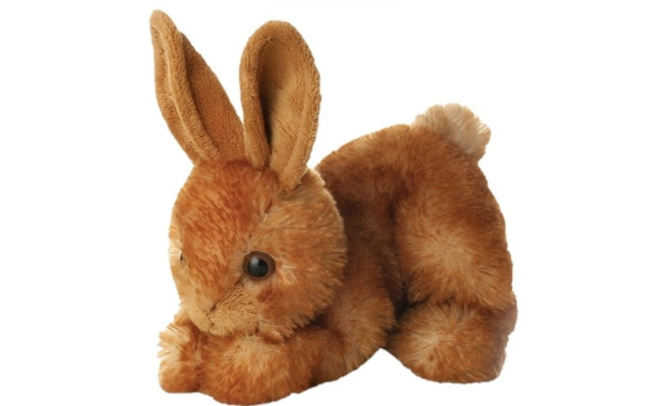 "NEW AURORA MINI FLOPSIE 8"" PLUSH BITTY BUNNY RABBIT BROWN 12762 SOFT TOY"