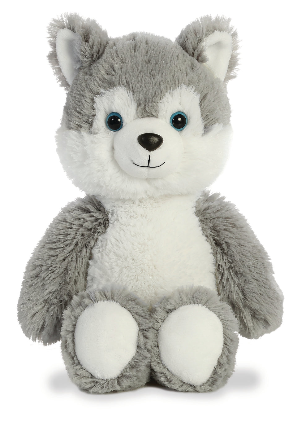"AURORA CUDDLY FRIENDS PLUSH 12"" HUSKY CUDDLY SOFT TOY TEDDY"