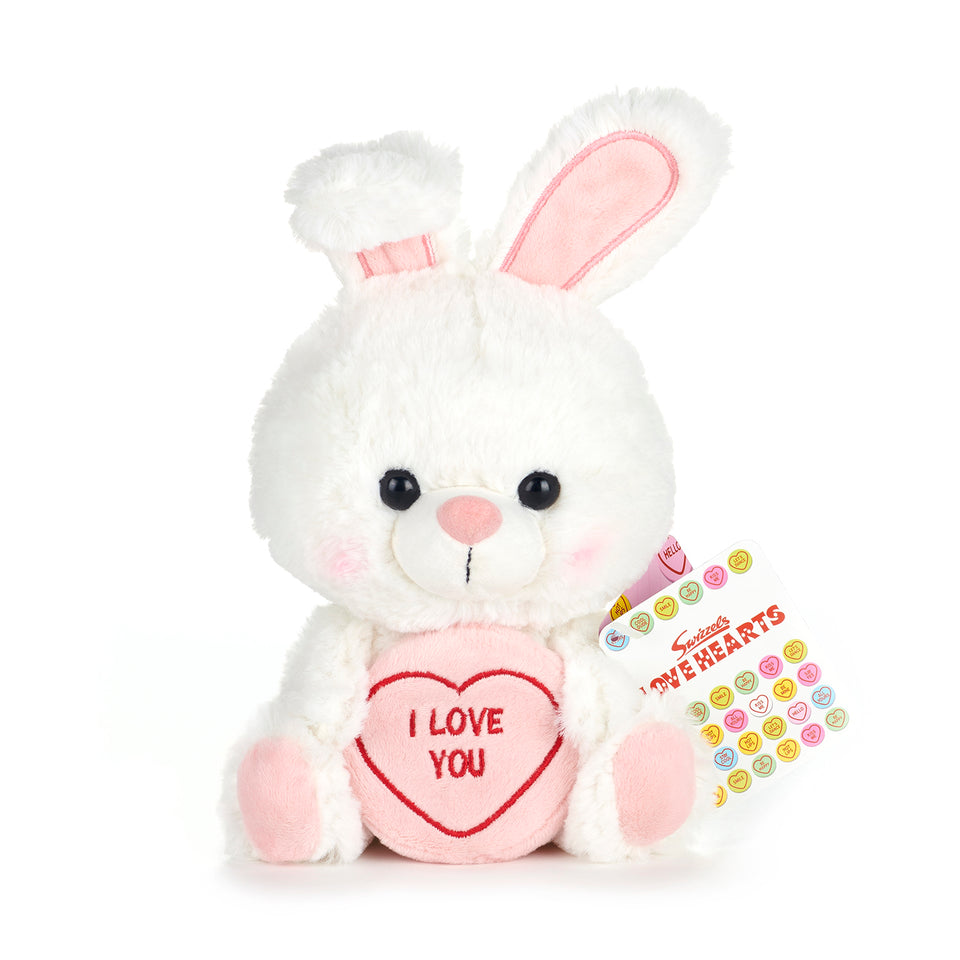 SWIZZELS LOVE HEARTS 18CM BUNNY RABBIT I LOVE YOU PLUSH SOFT TOY