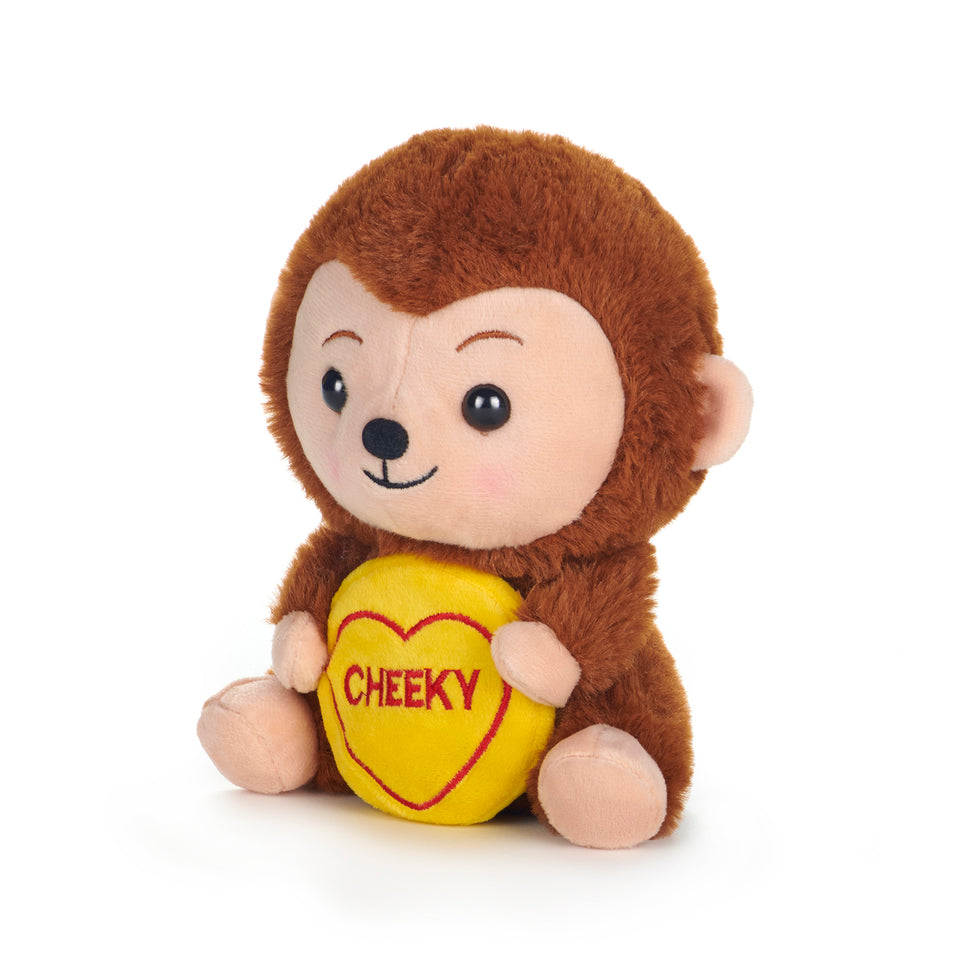 "SWIZZELS LOVE HEARTS 18CM MONKEY ""CHEEKY"" PLUSH SOFT CUDDLY TOY"