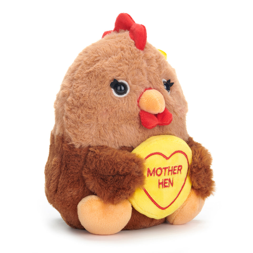 SWIZZELS LOVE HEARTS 18CM MOTHER HEN CHICKEN PLUSH SOFT CUDDLY TOY