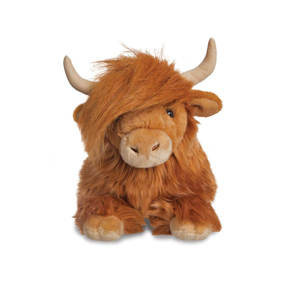 "AURORA PLUSH BRUCE HIGHLAND COW 16"" LUXE BOUTIQUE CUDDLY SOFT TOY"